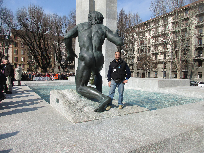 Piazza Grandi, Milano. Ex rifugio antiaereo